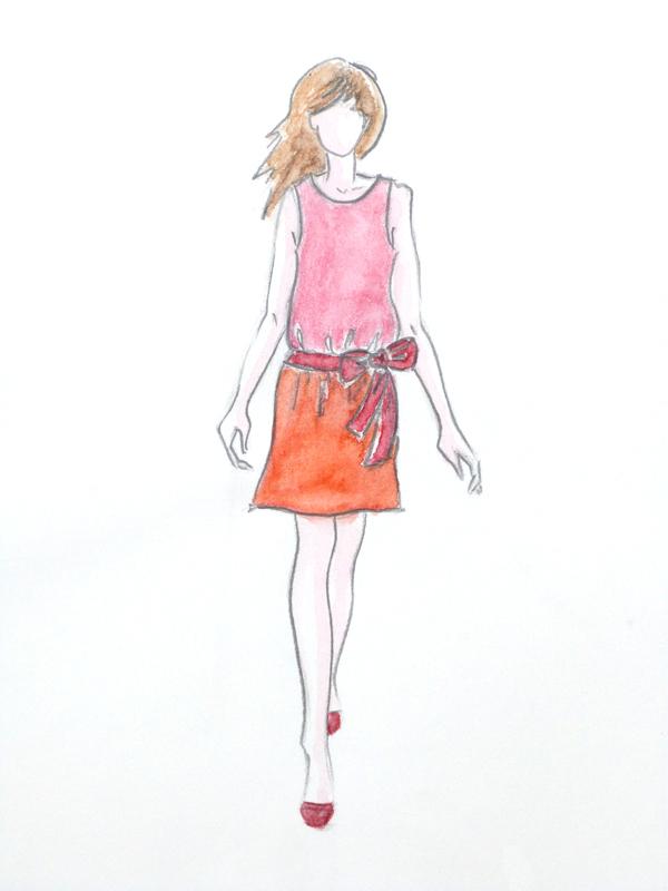 Celine Fourmaintraux Croquis Silhouette